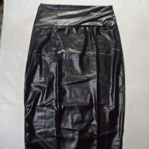 Dresses & Skirts - High waisted Pencil leather skirt